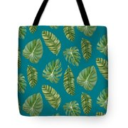 Rainforest Resort - Tropical Leaves Elephant's Ear Philodendron Banana Leaf Tote Bag