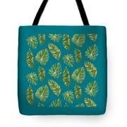 Rainforest Resort - Tropical Leaves Elephant's Ear Philodendron Banana Leaf Tote Bag