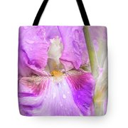 Raindrops On Persian Berry Iris Tote Bag