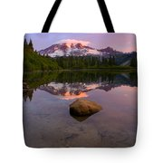 Rainier Dawn Breaking Tote Bag