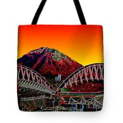 Rainier Over Qwest Field Tote Bag
