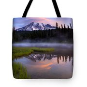 Rainier Sunrise Cap Tote Bag