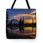Rainier Sunrise Reflection #2 Tote Bag