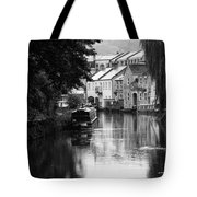 Raining On The Canal Tote Bag