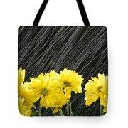 Raining On Yellow Daisies Tote Bag