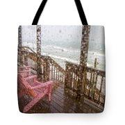 Rainy Beach Evening Tote Bag