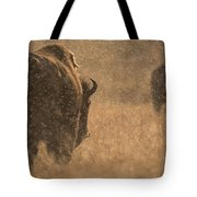 Rainy Bison Tote Bag