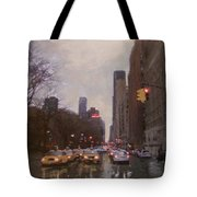 Rainy City Street Tote Bag by Anita Burgermeister