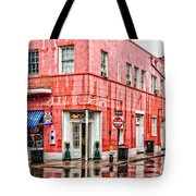 Rainy Corner Tote Bag