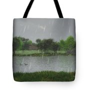 Rainy Day At The Lake Tote Bag