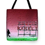 Rainy Day At The Market Tote Bag