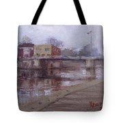 Rainy Day At Tonawanda Canal Tote Bag