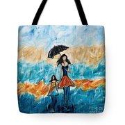 Rainy Day Blues Tote Bag