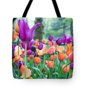 Rainy Day Flowers Tote Bag