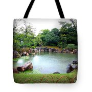 Rainy Day In Kyoto Palace Garden Tote Bag