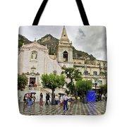 Rainy Day In Taormina 2 Tote Bag