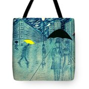 Rainy Day In The City Tote Bag