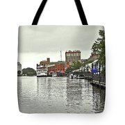 Rainy Day In Wilmington Tote Bag