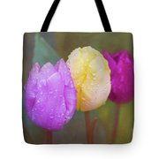 Rainy Day Tulips Tote Bag