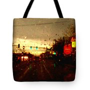 Rainy Evening Tote Bag