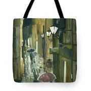 Rainy Evening In Kotor Tote Bag