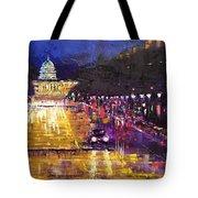 Rainy Evening On Pennsylvania Avenue Tote Bag