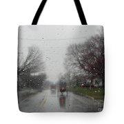 Rainy Fall Day Tote Bag