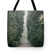 Rainy Gloomy Alley In Park Tote Bag