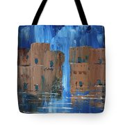 Rainy Night At The Pueblo Tote Bag