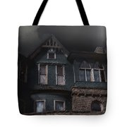 Rainy Night House Tote Bag