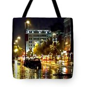Rainy Night In Green Bay Tote Bag
