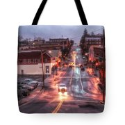 Rainy Night In Marion Tote Bag