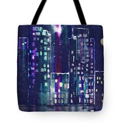 Rainy Night In The City Tote Bag