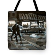 Rainy Nights Downtown Tote Bag