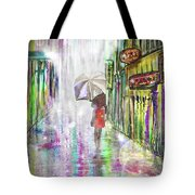 Rainy Paris Day Tote Bag by Darren Cannell