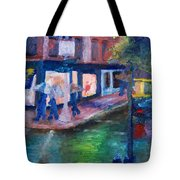 Rainy Soho Tote Bag