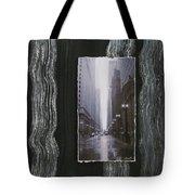 Rainy Street Layered Tote Bag