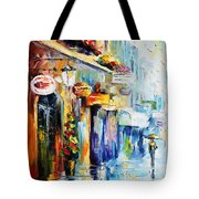 Rainy Stroll Tote Bag