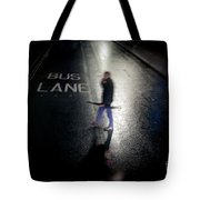 Rainy Whether In An Evening In  London. Tote Bag