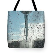 Rainy Window Needle Tote Bag