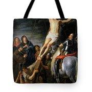 Raising The Cross Tote Bag