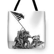 Raising The Flag Tote Bag