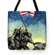 Raising The Flag On Iwo Jima Tote Bag