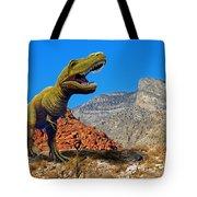 Rajasaurus In The Desert Tote Bag