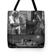 Rajasthan Collage Bw Tote Bag