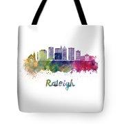 Raleigh V2 Skyline In Watercolor Tote Bag