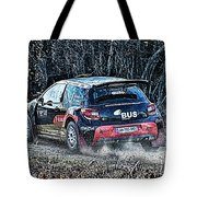 Rally Car Tote Bag
