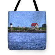 Ram Island Lighthouse Tote Bag