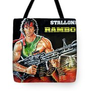 Rambo 2 Sylvester Stallone Paintinf Tote Bag