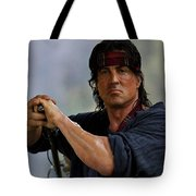 Rambo Sylvester Stallone Tote Bag